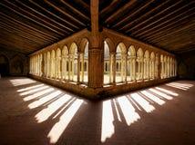 Церковь Франция Aug-30-12 аббатства Emilion Святого Стоковое фото RF