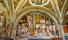 Церковь фрески в Риме Стоковые Изображения