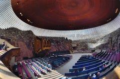Церковь Хельсинки утеса Temppeliaukio Kirkko Стоковое Изображение RF
