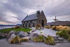 Церковь хорошего чабана, Новая Зеландия церковь хорошего чабана расположена на берега озера Tekapo Стоковые Фотографии RF