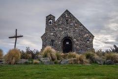 Церковь хорошего чабана, Новая Зеландия церковь хорошего чабана расположена на берега озера Tekapo Стоковые Изображения RF