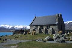 Церковь хорошего чабана, озера Tekapo стоковое фото rf