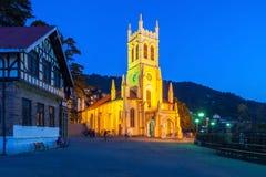 Церковь Христоса, Shimla Стоковая Фотография