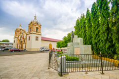Церковь центра города главная, Сантьяго одно из Стоковые Изображения RF