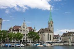Церковь Цюриха Швейцарии Fraumunster Стоковые Изображения