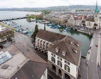 Церковь Цюриха Швейцарии Fraumunster Стоковое Изображение RF