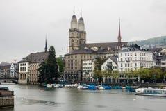 Церковь Цюриха Швейцарии Grossmunster Стоковое Изображение