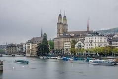 Церковь Цюриха Швейцарии Grossmunster Стоковое Изображение RF