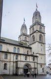 Церковь Цюриха Швейцарии Grossmunster Стоковая Фотография