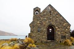 Церковь чабана на озере Tekapo Стоковое фото RF