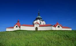 Церковь ЮНЕСКО St. John Nepomuk на Zelena Hora (зеленом держателе Стоковое Изображение