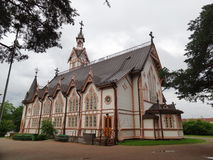 Церковь лютеранина в городе Kajani, Финляндии Стоковое Фото