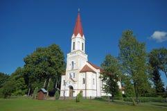 Церковь лютеранина старая Стоковое Изображение