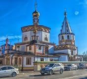 Церковь явления божества (построенного в 1718), Иркутск, Россия Стоковые Изображения RF