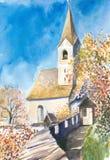 церковь иллюстрация штока