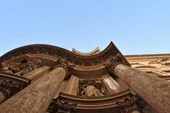 Церковь alle Quattro Fontane San Carlo, церков Рима, Francesco Borromini стоковые изображения
