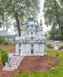 Церковь Andreevskaya в городе Киеве Висок в честь Перво-вызванное St Andrew стоковые изображения rf