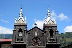Церковь Baños, эквадора стоковая фотография rf