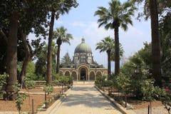 Церковь Beatitudes в Галилея Стоковое Фото