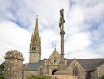 Церковь Beuzec, Христос на кресте Finistere, Бретань, Франция Стоковая Фотография RF
