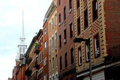 церковь boston северно старая Стоковая Фотография