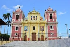 Церковь Calvario в Леоне, Никарагуа Стоковое фото RF