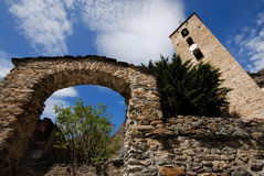 Церковь Canillo, Андорры Стоковые Изображения