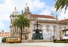 Церковь Carmelitas и церковь Carmo, Порту, Стоковое Фото