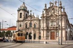 Церковь Carmelites украшенная в Azulejos в Порту, Portuga Стоковое Изображение RF