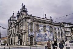 Церковь Carmo в Oporto Стоковое Фото