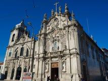 Церковь Carmo и церковь Carmelitas в Порту, Португалии Стоковое фото RF