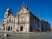 Церковь Carmo и церковь Carmelitas в Порту, Португалии Стоковое Фото