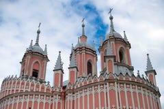 Церковь Chesme, памятник архитектуры в готическом стоковые фото