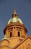 церковь christ придает куполообразную форму: Германию mannheim стоковое фото rf