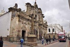 Церковь CompañÃa Ла, Кито, эквадор стоковые фотографии rf
