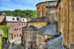 Церковь Conques Франции стоковые фото