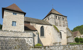 Церковь d'Ahun Moutier Стоковое Изображение RF