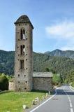 Церковь d'Engolasters Sant Мигеля Стоковые Фотографии RF