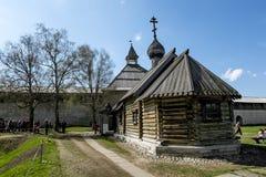 Церковь Dmitry Solunsky в крепости в Staraya Ladoga Россия Стоковые Фотографии RF