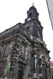 церковь dresden старый стоковая фотография