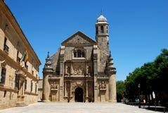Церковь El Salvador, Ubeda, Испания. Стоковая Фотография