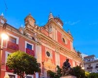 Церковь El Savador, Севилья, Испания Стоковое фото RF