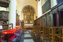 Церковь Elisabeth Святого в Брюгге стоковое фото rf