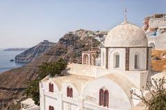 Церковь Fira на Santorini Стоковая Фотография