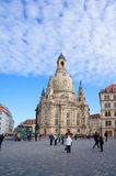 Церковь Frauenkirche в Дрездене, Германии Стоковые Фото
