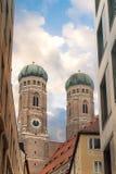 Церковь Frauenkirche в Мюнхене Стоковые Фотографии RF