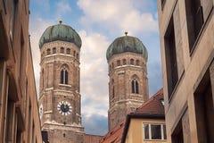 Церковь Frauenkirche в Мюнхене Стоковое Фото