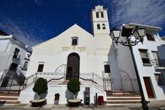 Церковь Frigiliana, Андалусия, Испания, Стоковые Фото