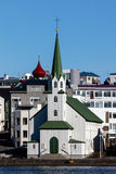 Церковь Frikirkjan в Reykjavik, Исландии Стоковое фото RF