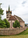 Церковь Georges Святого в Chatenois, Эльзасе, Франции Стоковое Изображение RF